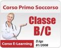 Corso Pronto Soccorso classe B/C - 12 ore
